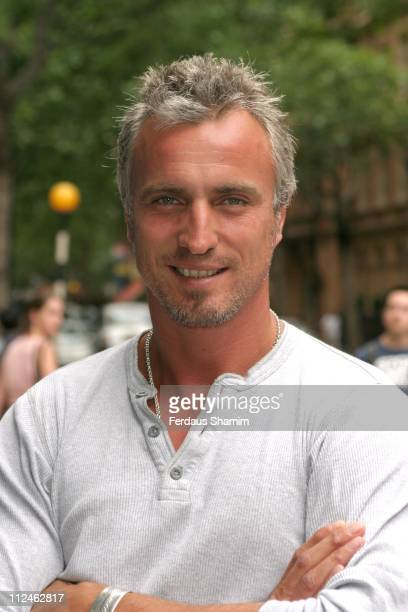 David Ginola during 'Mr Firecul' Photocall and Press Launch at Odeon Covent Garden in London Great Britain