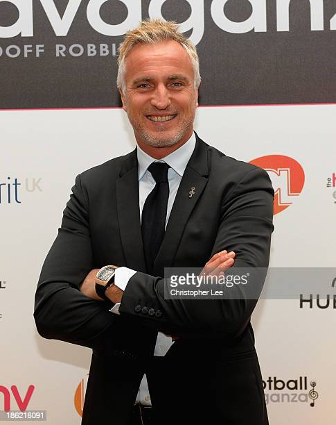 David Ginola during the Football Extravaganza at the Grosvenor House Hotel on October 29 2013 in London England