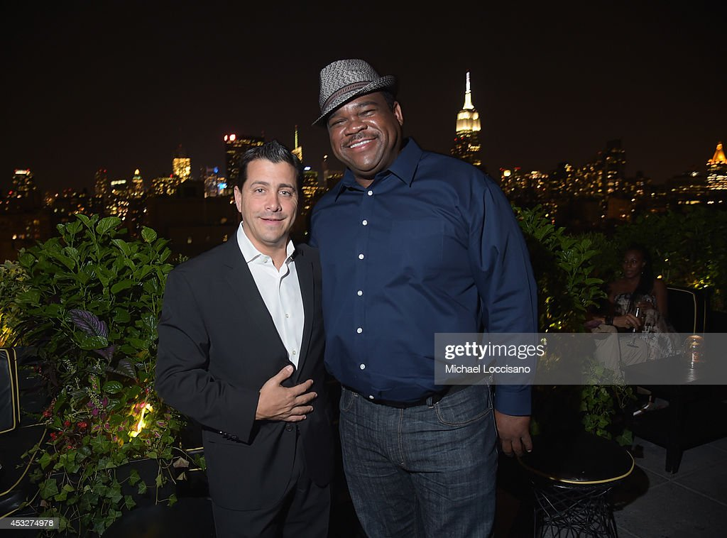 David Glasser and Actor Leonard Earl Howze, Market Hours, attend the 2nd Annual Lexus Short Films 'Life is Amazing' After Party presented by The Weinstein Company and Lexus at Dream Downtown on August 6, 2014 in New York City.