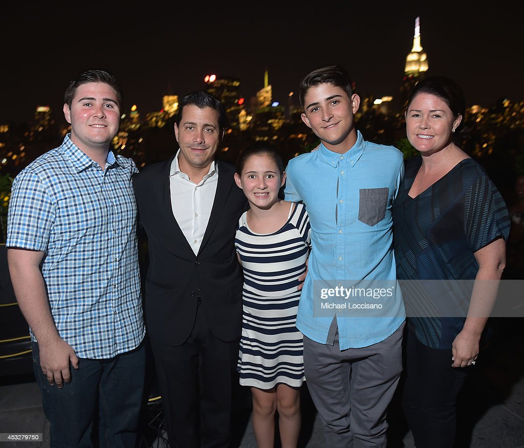 David Glasser (2nd L) and family attend the 2nd Annual Lexus Short Films 'Life is Amazing' After Party presented by The Weinstein Company and Lexus at Dream Downtown on August 6, 2014 in New York City.