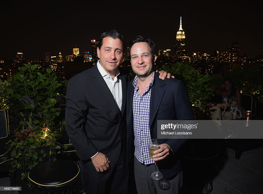 David Glasser and writer, actor Danny Strong attend the 2nd Annual Lexus Short Films 'Life is Amazing' After Party presented by The Weinstein Company and Lexus at Dream Downtown on August 6, 2014 in New York City.