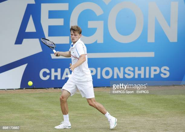 David Goffin during the AEGON Championships at The Queen's Club London