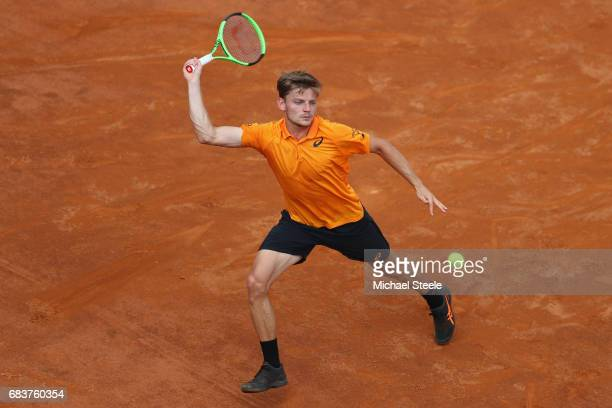 David Goffin of Belgium during his second round match against Fernando Verdasco of Spain on Day Three of The Internazionali BNL d'Italia 2017 at the...