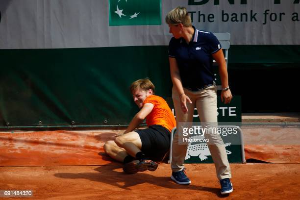 David Goffin vs Horacio Zeballos during the French Open of RolandGarros on june 02 2017 in Paris France