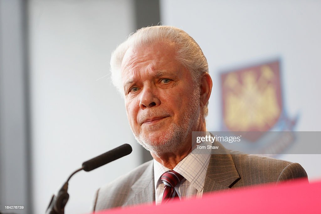 <a gi-track='captionPersonalityLinkClicked' href=/galleries/search?phrase=David+Gold&family=editorial&specificpeople=65904 ng-click='$event.stopPropagation()'>David Gold</a> the co owner of West Ham talks to the press during the press conference to announce the future of the Olympic Stadium on March 22, 2013 in London, England. West Ham United have been announced as the main tenants of the Olympic Stadium, paying 15 million GBP upfront towards conversion costs and an annual rent of 2 million GBP. West Ham will play their home matches at the Stadium from 2016.