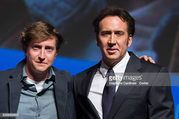 David Gordon and Nicolas Cage attend the screening of the movie 'Joe' during the 39th Deauville American Film Festival in Deauville