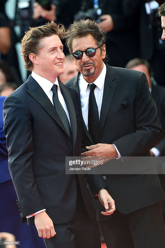 David Gordon Green and Al Pacino attend 'Manglehorn' Premiere during the 71st Venice Film Festival at Sala Grande on August 30 2014 in Venice Italy