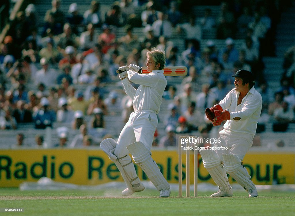 David Gower and G Edwards England v New Zealand 1st Test The Oval July 1978