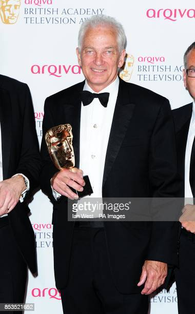 David Gower with the Sport and Live Event Award for The Ashes 2013 First Test Day Five at the Arqiva British Academy Television Awards 2014 at the...