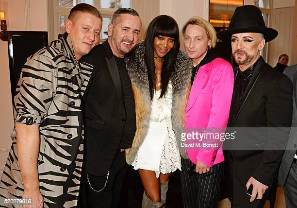 David Graham Fat Tony Naomi Campbell Marilyn and Boy George attend an event hosted by Naomi Campbell Burberry and TASCHEN to celebrate the launch of...