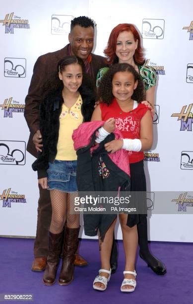 David Grant Carrie Grant and children arrive for Disney sensation Hannah Montana's debut UK gig at Koko in Camden north London