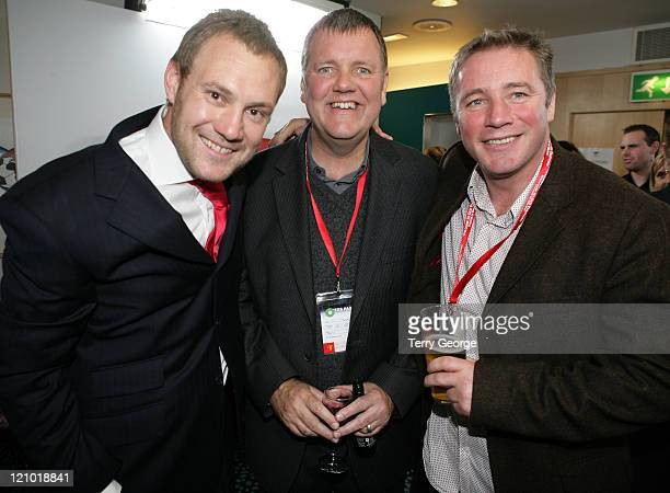 David Gray guest and Ally McCoist during Soccer Aid UNICEF ITV1 Football Match After Show Party in Manchester United Kingdom