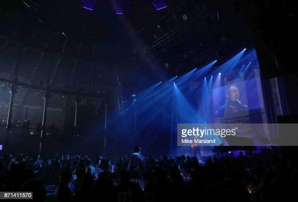 David Gray performs on stage the SeriousFun London Gala 2017 at The Roundhouse on November 7 2017 in London England