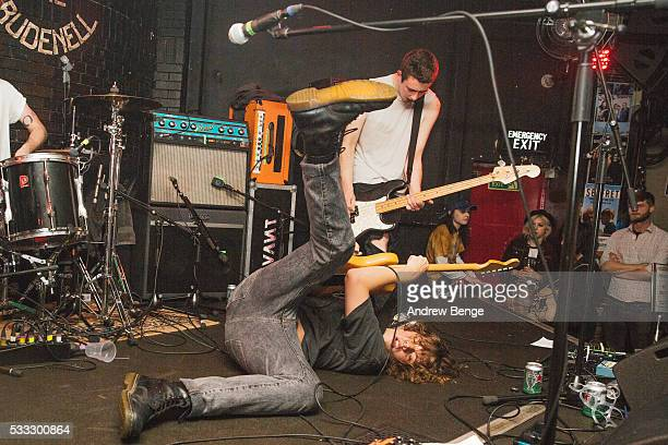 David Green Mattie Vant Billy Morris of Vant performs on stage during Gold Sounds Festival 2016 at Brudenell Social Club on May 21 2016 in Leeds...