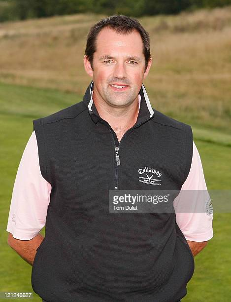 David Green of Croham Hurst Golf Club poses for photographs after winning the Virgin Atlantic PGA National ProAm Championship Regional Final at Chart...