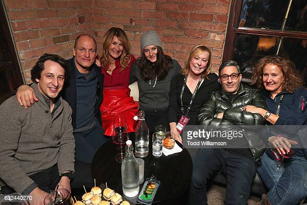 David Greenbaum Woody Harrelson Laura Dern Shailene Woodley Nancy Utley Jason Weinberg and Linda Lichter attend the after party for Sundance Premiere...