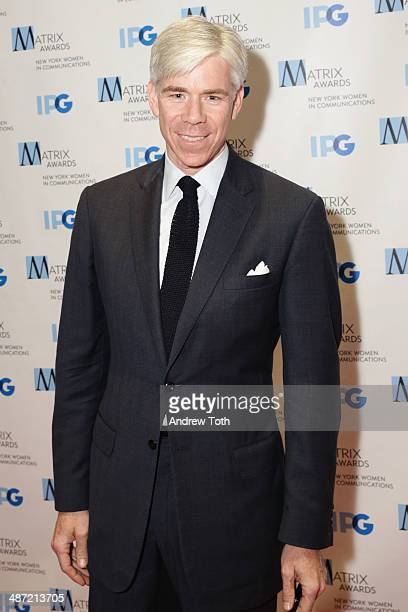 David Gregory attends the 2014 Matrix Awards at The Waldorf=Astoria on April 28 2014 in New York City