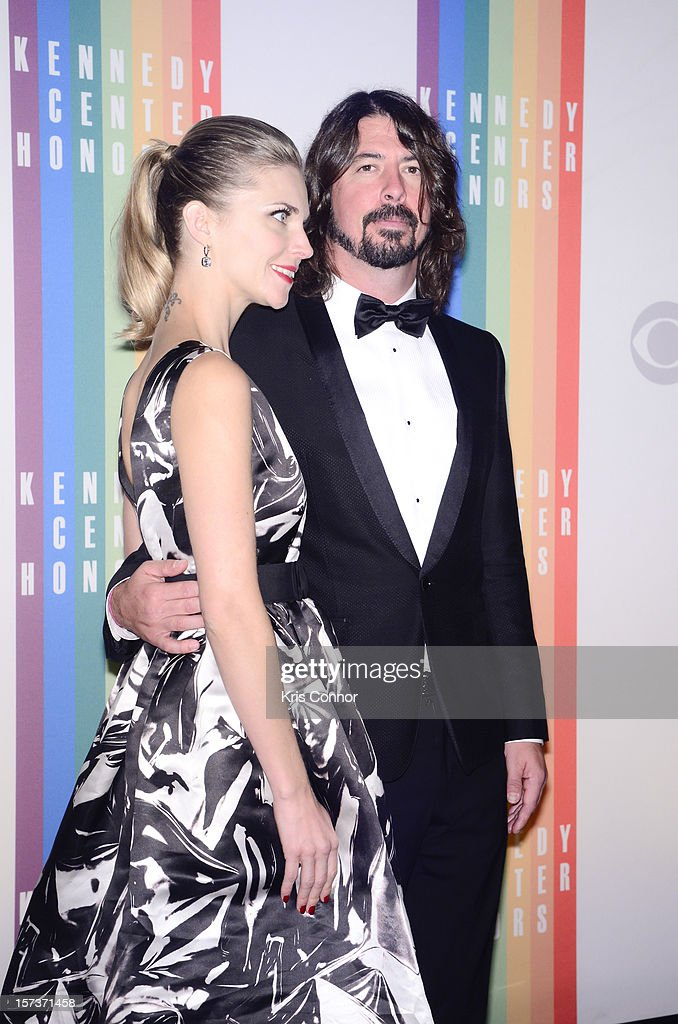 David Grohl poses for photographers during the 35th Kennedy Center Honors at the Kennedy Center Hall of States on December 2, 2012 in Washington, DC.