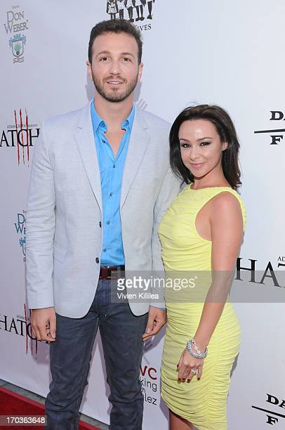 David Gross and actress Danielle Harris attend 'Hatchet III' Los Angeles Premiere at American Cinematheque's Egyptian Theatre on June 11 2013 in...