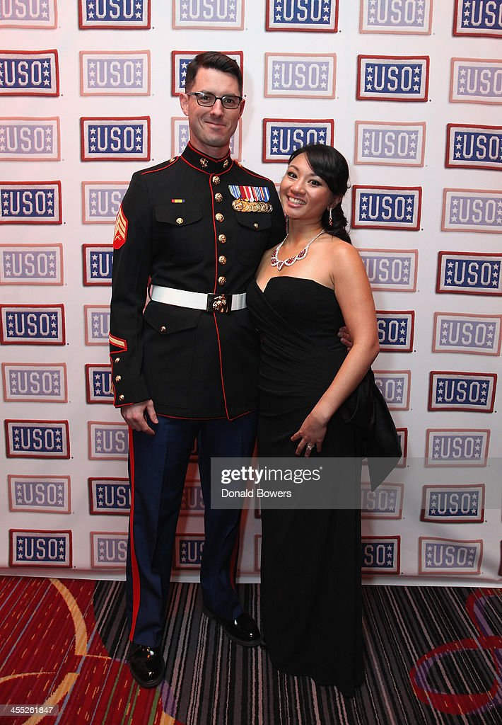 David Grossman and Christie Marcella attend The 52nd USO Armed Forces Gala & Gold Medal Dinner at Marriott Marquis Times Square on December 11, 2013 in New York City.