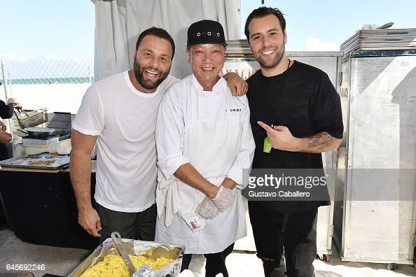 David Grutman Chef and DJ Sebastian Ingrosso attend Goya Foods' Grand Tasting Village Featuring Mastercard Grand Tasting Tents KitchenAid Culinary...