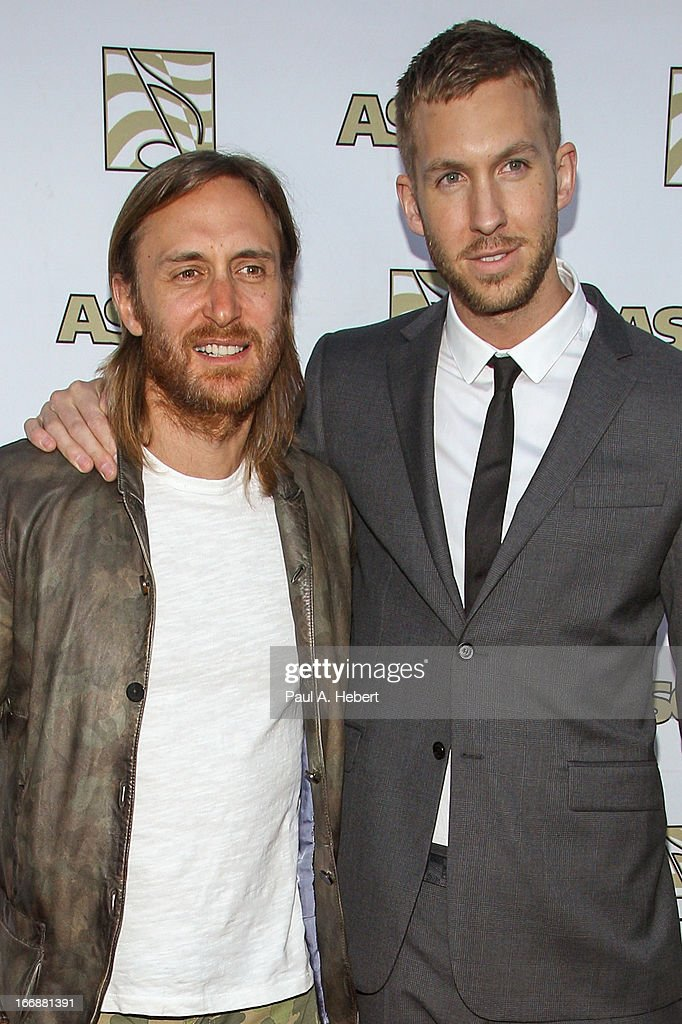 <a gi-track='captionPersonalityLinkClicked' href=/galleries/search?phrase=David+Guetta&family=editorial&specificpeople=2825542 ng-click='$event.stopPropagation()'>David Guetta</a> (L) and <a gi-track='captionPersonalityLinkClicked' href=/galleries/search?phrase=Calvin+Harris&family=editorial&specificpeople=4412722 ng-click='$event.stopPropagation()'>Calvin Harris</a> attend the 30th Annual ASCAP Pop Music Awards at Loews Hollywood Hotel on April 17, 2013 in Hollywood, California.