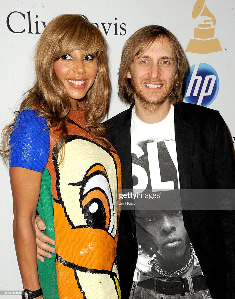 David Guetta and Cathy Guetta arrive at the 2011 PreGRAMMY Gala and Salute To Industry Icons Honoring David Geffen at Beverly Hilton on February 12...