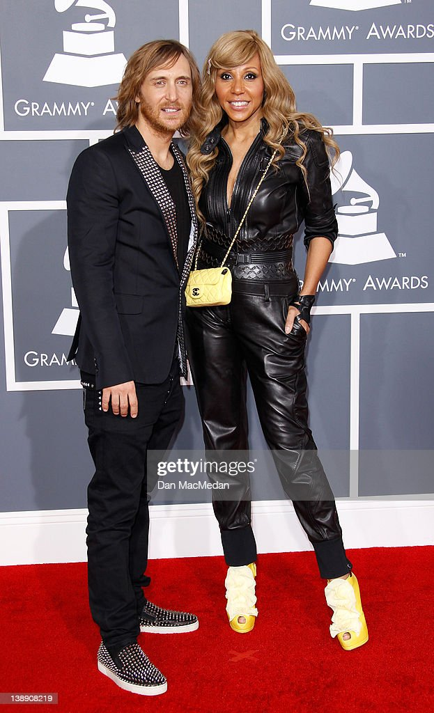 David Guetta and Cathy Guetta arrive at the 54th Annual GRAMMY Awards held at the Staples Center on February 12 2012 in Los Angeles California