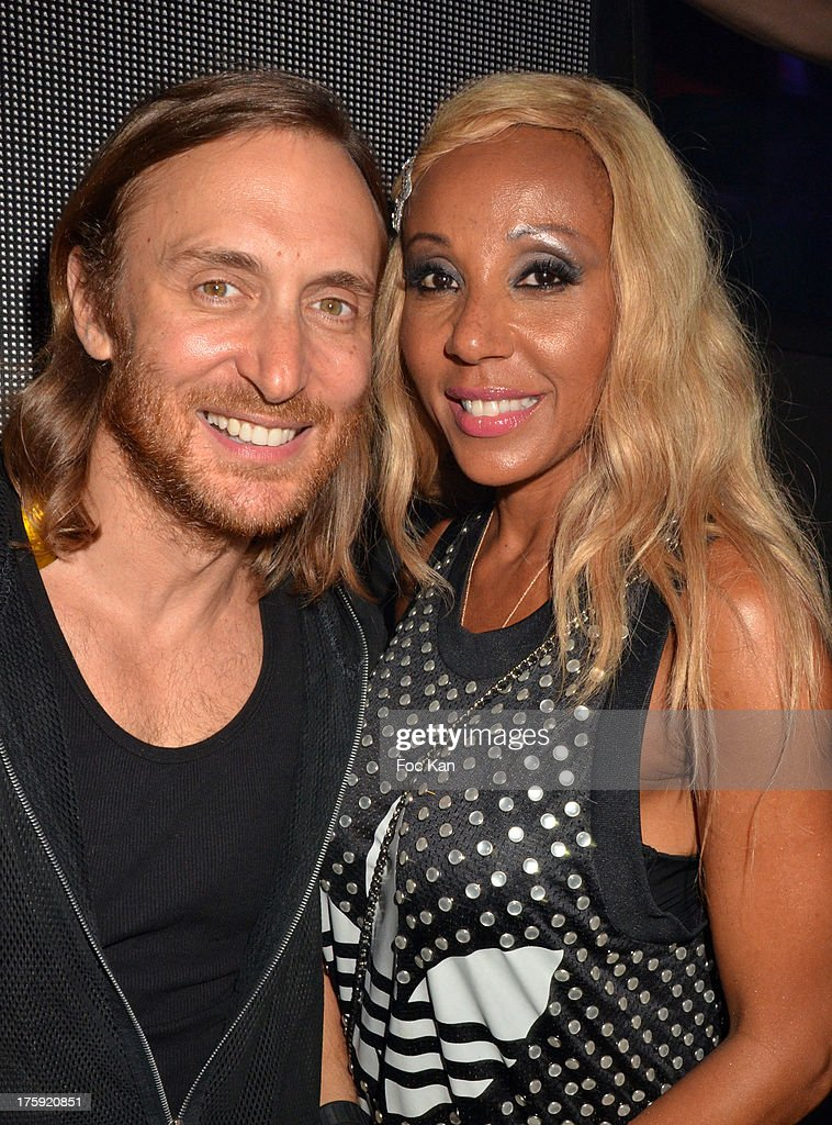David Guetta and Cathy Guetta attend the David Guetta Party at The Gotha Club on August 3, 2013 in Saint Tropez, France.