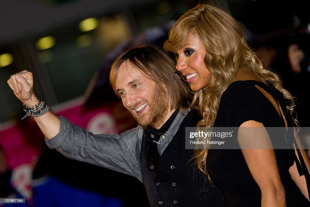 David Guetta and his wife Cathy Guetta attend the NRJ Music Awards 2012 at Palais des Festivals on January 28 2012 in Cannes France