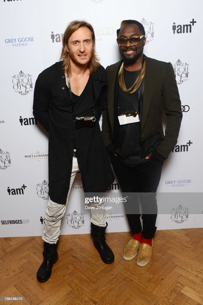 <a gi-track='captionPersonalityLinkClicked' href=/galleries/search?phrase=David+Guetta&family=editorial&specificpeople=2825542 ng-click='$event.stopPropagation()'>David Guetta</a> and Will.i.am attend the I.AM+ foto.sosho Launch Party in association with Cirque Du Soir at One Marylebone on December 16, 2012 in London, England.