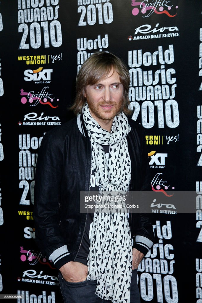 David Guetta at the 'World Music Awards 2010 - show' at the Sporting Club on May 18, 2010 in Monte Carlo, Monaco.