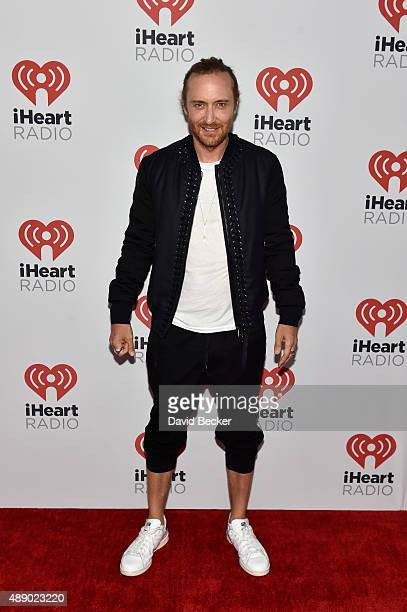David Guetta attends the 2015 iHeartRadio Music Festival at MGM Grand Garden Arena on September 18 2015 in Las Vegas Nevada