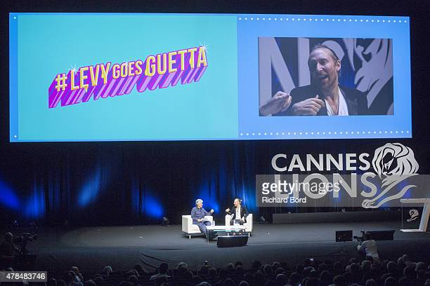 David Guetta in conversation with Maurice Levy CEO of Publicis Groupe during the Publicis seminar as part of the Cannes Lions International Festival...