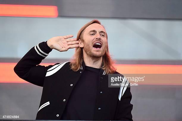 David Guetta performs at the 1027 KIIS FM's Wango Tango at StubHub Center on May 9 2015 in Los Angeles California