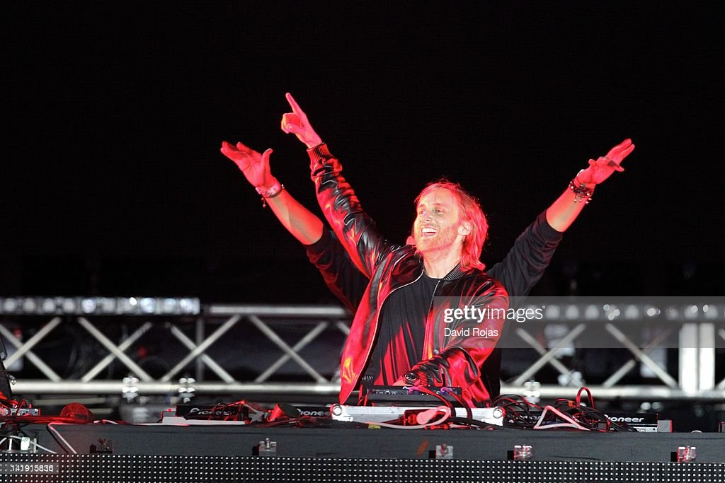 David Guetta performs at Ultra Music Festival 14 at Bayfront Park Amphitheater on March 25, 2012 in Miami, Florida.
