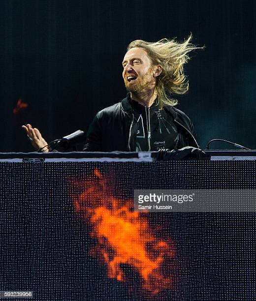 David Guetta performs at V Festival at Hylands Park on August 21 2016 in Chelmsford England