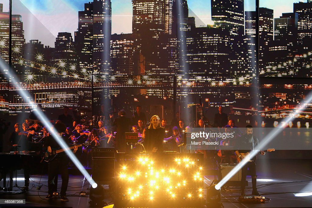 David Guetta performs during the 30th 'Victoires de la Musique' French Music Awards Ceremony at le Zenith on February 13, 2015 in Paris, France.