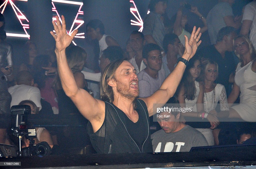 <a gi-track='captionPersonalityLinkClicked' href=/galleries/search?phrase=David+Guetta&family=editorial&specificpeople=2825542 ng-click='$event.stopPropagation()'>David Guetta</a> performs during the <a gi-track='captionPersonalityLinkClicked' href=/galleries/search?phrase=David+Guetta&family=editorial&specificpeople=2825542 ng-click='$event.stopPropagation()'>David Guetta</a> Party at The Gotha Club on August 3, 2013 in Saint Tropez, France.