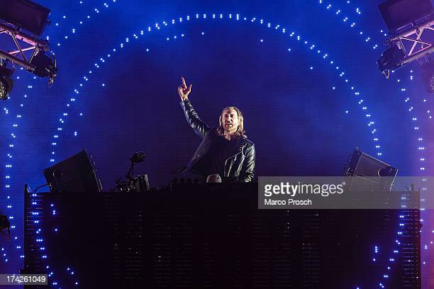 David Guetta performs during the Seenland Festival on July 5 2013 in Hoyerswerda Germany