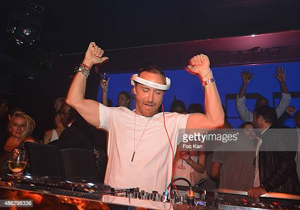 David Guetta performs during the The New Queen Club Opening Party and David Guetta DJ Set on September 2 2015 in Paris France