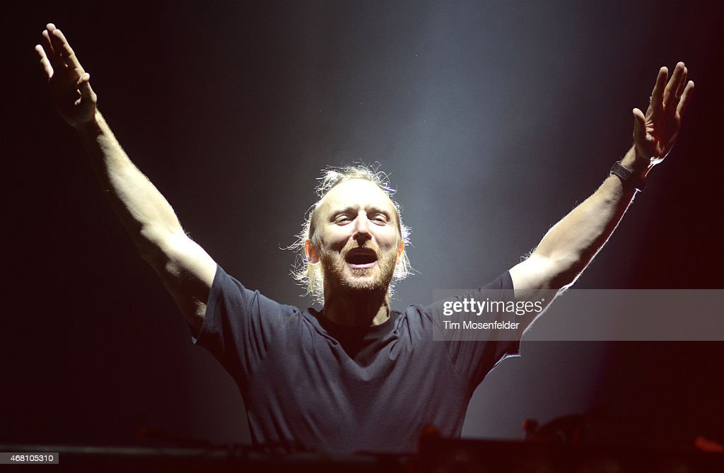 David Guetta performs during the Ultra Music Festival at Bayfront Park Amphitheater on March 29 2015 in Miami Florida