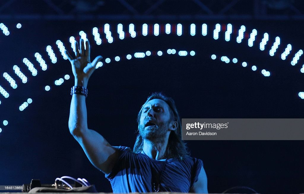 David Guetta performs during the Ultra Music Festival Weekend 2 at Bayfront Park Amphitheater on March 23, 2013 in Miami, Florida.