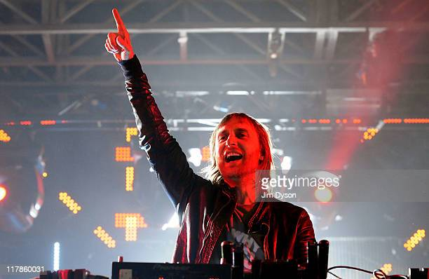David Guetta performs live on stage during the first day of the Wireless Festival at Hyde Park on July 1 2011 in London England