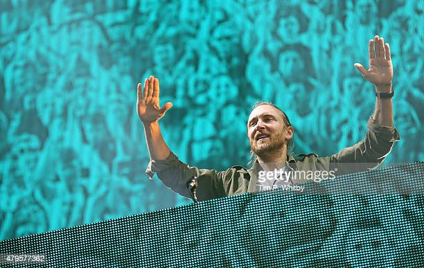 David Guetta performs on day 3 of the New Look Wireless Festival at Finsbury Park on July 5 2015 in London England