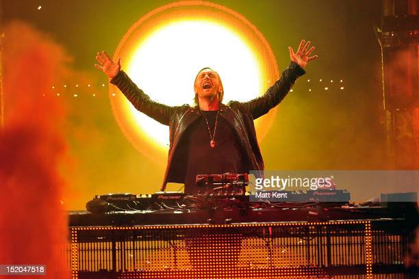 David Guetta performs on stage during iTunes Festival at The Roundhouse on September 15 2012 in London United Kingdom