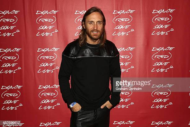 David Guetta poses during DANCE SAVE LIVES at Stereosonic Sydney on November 30 2013 in Sydney Australia Photo by Graham Denholm/Getty Images for...