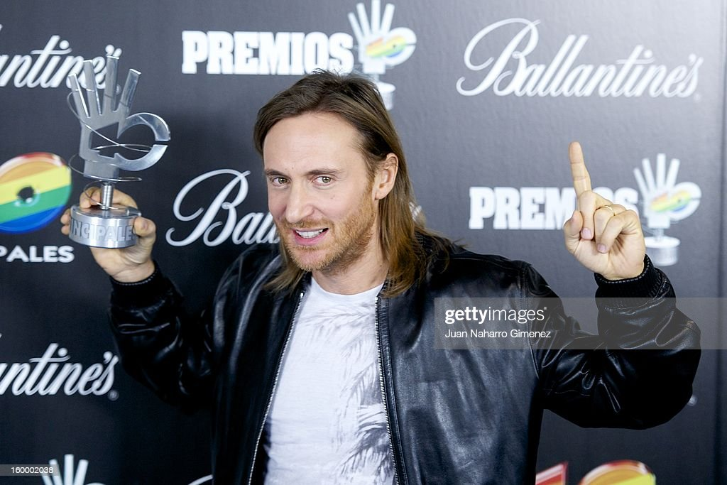 David Guetta poses in the press room during 40 Principales Awards 2012 at the Palacio de Deportes on January 24, 2013 in Madrid, Spain.
