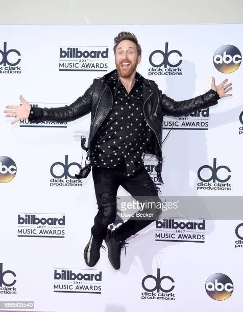 David Guetta poses in the press room during the 2017 Billboard Music Awards at TMobile Arena on May 21 2017 in Las Vegas Nevada