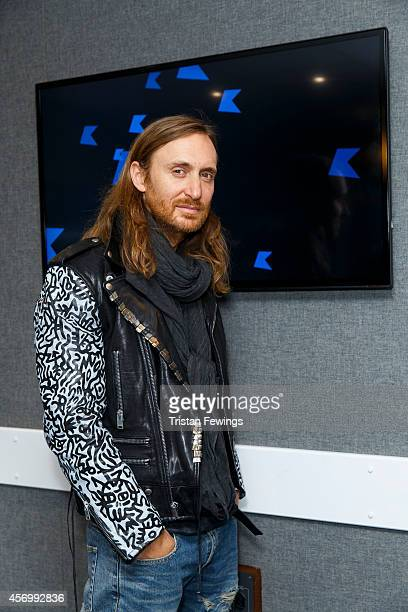 David Guetta talks to Michael Andrea from Live @ KISS when he visited KISS FM UK studios on October 10 2014 in London England